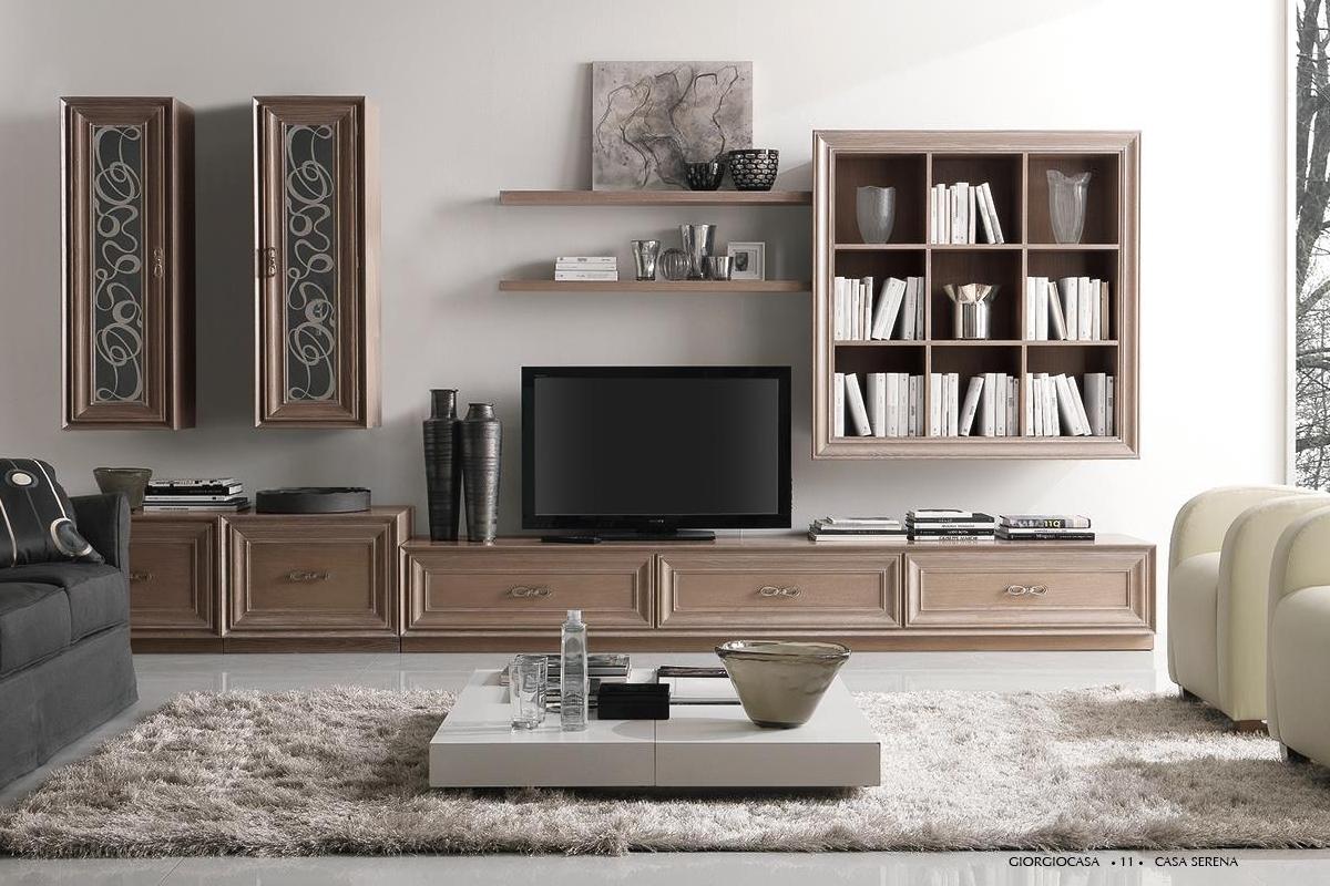Pareti attrezzate classiche bianche idea living moderno per una casa accogliente e moderna - Idea casa bisceglie ...